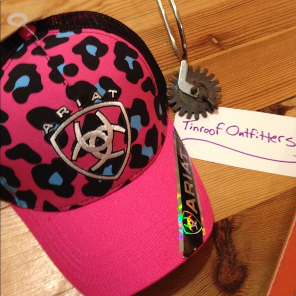 508ded43a Ariat Accessories | New Ladies Western Cap Hat Logo Pink Black ...